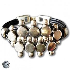 Bracelet cuir Pastille 3 brins