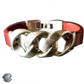 Bracelet cuir Gourmette