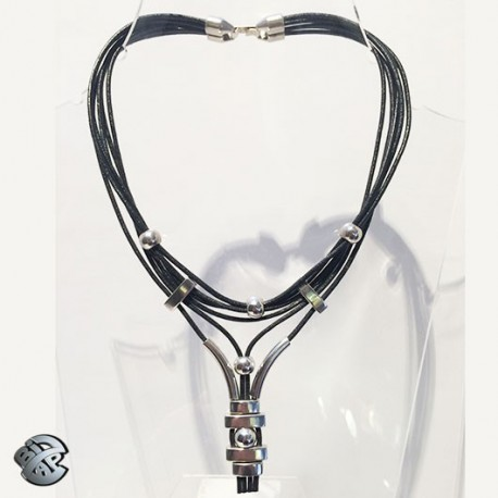 Collier cuir Rock