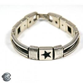 Bracelet métal 4 brins - Etoile