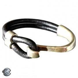 Bracelet cuir Crochet