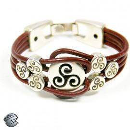 Bracelet cuir Entrela