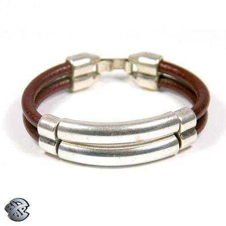 Bracelet cuir Double Jonc