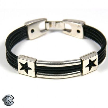 Bracelet cuir 4 brins